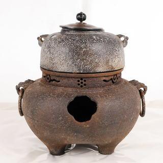 8645 鉄製 茶釜 茶道具 アントレ