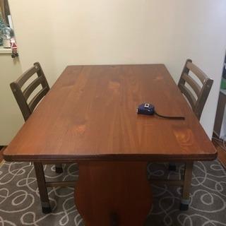 テーブル & 椅子2脚