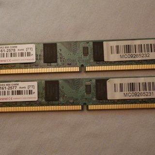 TRANSCEND DDR2 800 2GB X 2