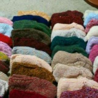 毛糸の靴下カバー