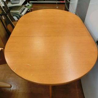 バタフライテーブルダイニング5点セット 【トレファク上尾店】