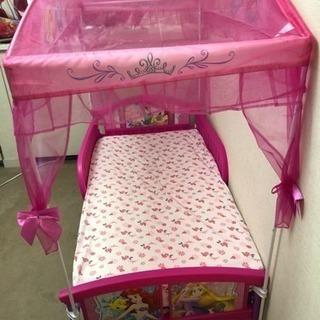 ディズニー プリンセス 天蓋付き プリンセス 幼児用ベッド