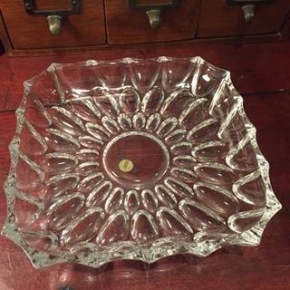 アンティーク カットガラス 大皿