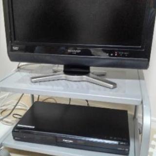 液晶テレビ+DVDレコーダー+テレビ台のセット