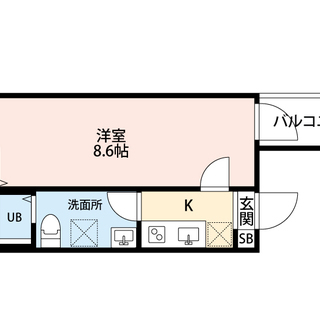 広々8.6帖の1K☆独立洗面台も嬉しい築浅デザイナーズアパートです...