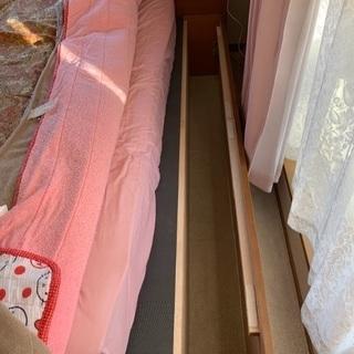 セミダブルベッド ベッド下収納付き 譲ります