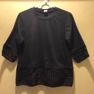 【日本製】袖、裾レーストップス