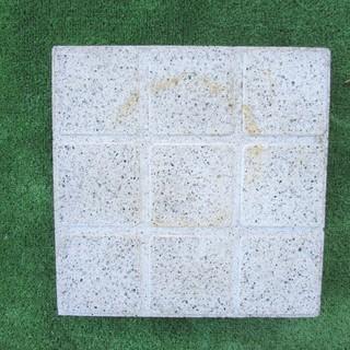 角タイル調カラー平板(コンクリート製);ホワイト色 30*30*厚...