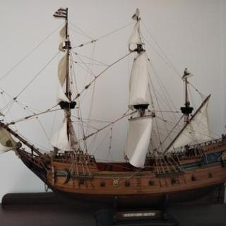 ベルリン号の帆船模型完成品