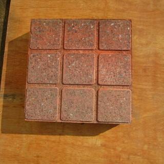 角タイル調カラー平板(コンクリート製);赤レンガ色 30*30*厚...