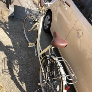 残り半日!24インチ ベージュ 自転車
