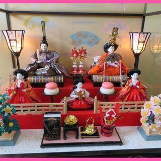 東旭謹作 ひな人形 親王飾り・五人飾り ケース入り 専用箱付き