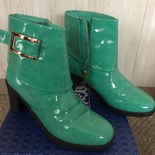 ショートブーツ レインブーツ 雨靴 グリーン ペパーミントグリー...
