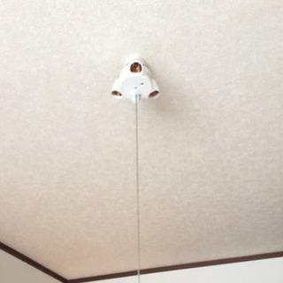 三つ又 天井照明2個 引掛シーリングソケット