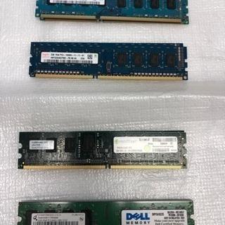 デスクトップ用メモリ DDR3、DDR2