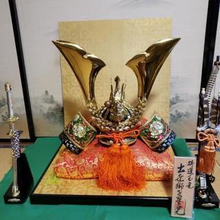 五月人形 玉竜 兜+弓太刀