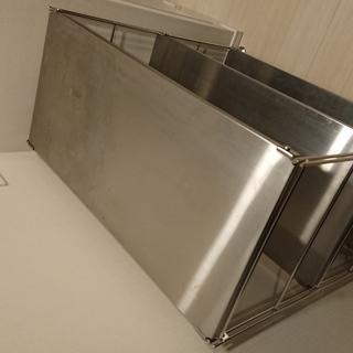 無印良品ステンレスユニットシェルフ(ワイド、小、ステンレス棚セット)