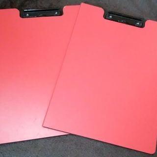 赤 見開き ファイル バインダー 2つ