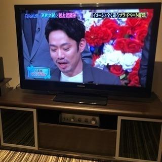 テレビ・テレビボードセット 40インチ東芝2012年製 regza