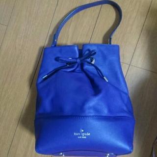 紫  ケイト・スペード  縦型バッグ