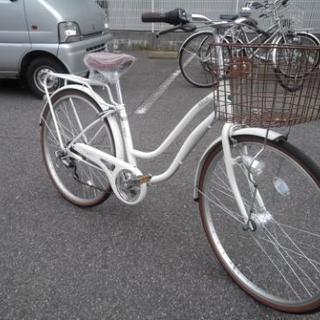 中古自転車418(防犯登録600円無料)  26インチ 6段ギヤ ...