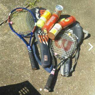 硬式テニスラケット&ボールセット