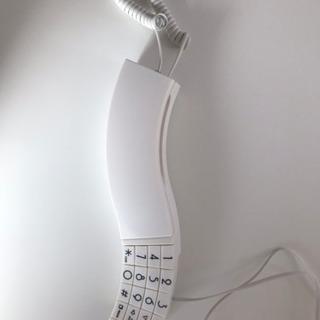 電話機 受付電話 デザインテレフォン ホワイト
