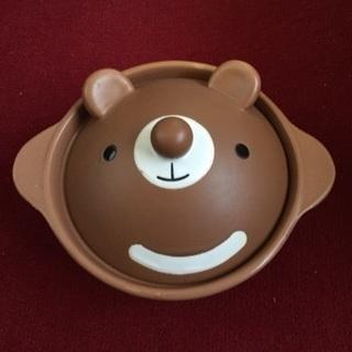 可愛いクマの一人鍋
