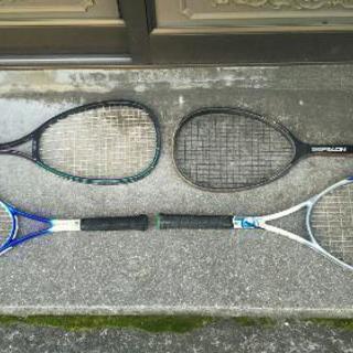値下げ・軟式テニスラケットセット4本