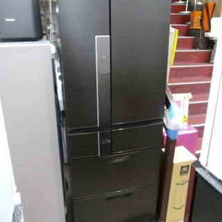札幌 大容量 605L 2013年製 三菱 6ドア冷蔵庫 MR-J...