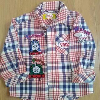 トーマスシャツ青×赤80センチ