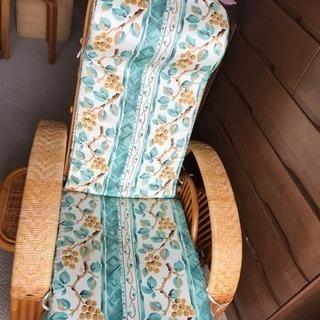 リラックス用 籐椅子