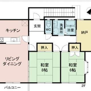 無料で入居開始可能!パナホーム施工 広い2SLDK 78.23㎡!