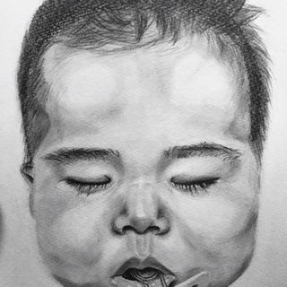 鉛筆のみで描く似顔絵
