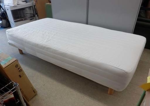 PayPay対応 無印良品 脚付マットレス ベッド シングル 洗えるカバー 木製脚 MUJI 白 人気 おしゃれ シンプル 札幌市西区西野  (モノハウス西野店) 発寒南のベッド《シングルベッド》の中古あげます・譲ります|ジモティーで不用品の処分