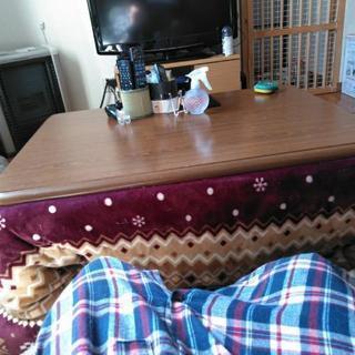 [期日間近] こたつテーブル、脚延ばす器具のセット