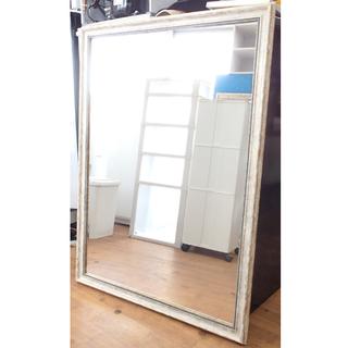 ♪理美容室 ビューティガレージ 壁掛けミラー/鏡 アンティーク調...