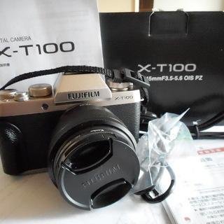 富士フイルム X-T100 レンズキット 新品同様