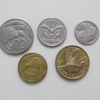 外国硬貨コレクション★ニュージーランド硬貨5種