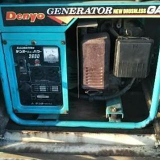 デンヨー発電機GA-2605中古現状販売◆