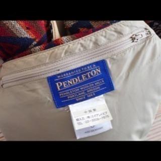 【PENDLETONxBEAMS】限定コラボ)Mダウンベスト インディゴ柄レッド - 服/ファッション