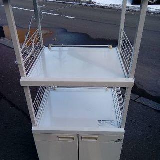 レンジ台 キッチン収納 スライド棚 幅47 スリム