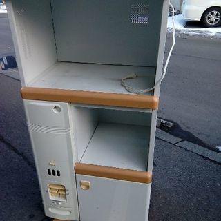 電子レンジ炊飯器収納キャビネット