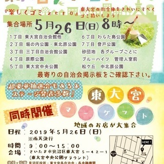 第32回クリーン大作戦サンクスイベント東大宮マーケット開催!!
