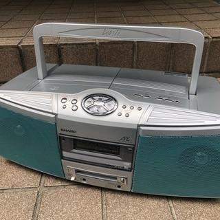 無料 CD不良  シャープ  CD MD ラジカセ SD-FX5...