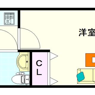 【おおきに夕陽ケ丘サニーアパートメント】2号タイプ!1Kタイプ!...