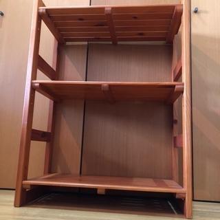 【ウッドシェルフ】【木製棚】【3段】【高さ調節可】【(国分寺)現地手渡し】 − 東京都