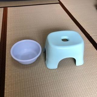 ☆風呂用イス、プラスチックたらい ¥0 ※引き取りのみ