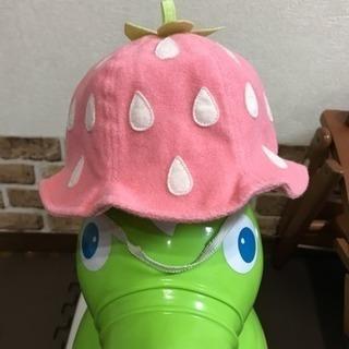 イチゴ柄 ベビー帽子 コムサイズム 46cm