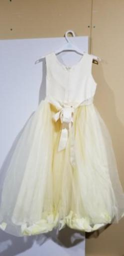 8c2a252f2f3d6 キッズ用 ドレス 薄黄色 美品 (fukky) 中の島のキッズ用品《子供服》の ...
